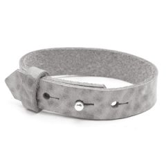 Brede leren armband color concrete grey