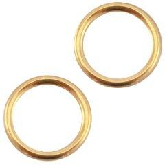 Dichte ring kleur goud smal