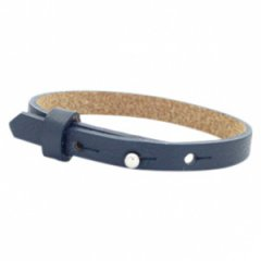 leather bracelet color midnight blue