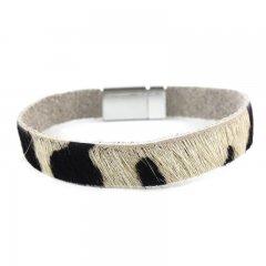 leren armband kleur zwart wit