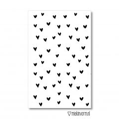 Minikaart met afbeelding van veel hartjes