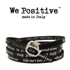 We Positive armband Black silver