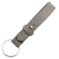 Leren sleutelhanger kleur concret grey
