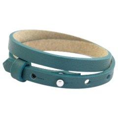Smalle armband kleur night tide green dubbel