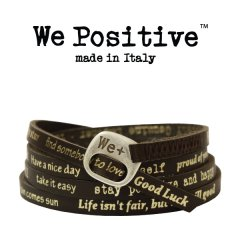 We Positive armband Dark brown gold
