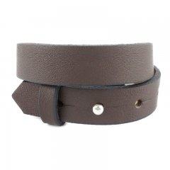 Brede armband kleur dark taupe dubbel