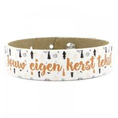 Armband met eigen tekst kerst goud