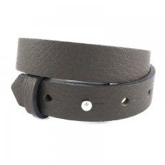 Brede armband kleur middle grey dubbel