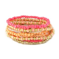 armbandenset rose peach