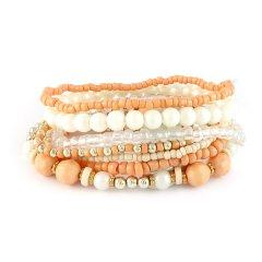 armbandenset oranje wit
