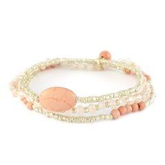 armbandset roze zilver