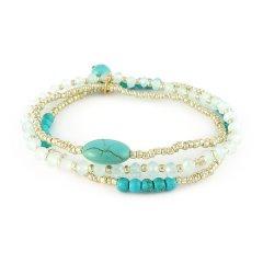 armbandenset turquoise zilver
