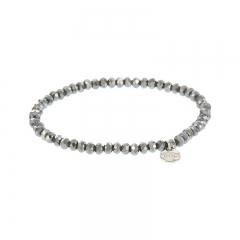Biba facet armband kleur crystal black kralen 4mm