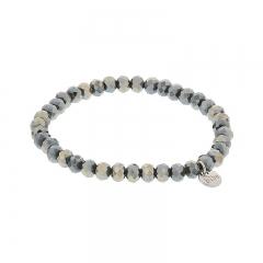 Biba facet armband kleur crystal black kralen 6mm