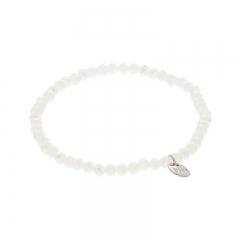 Biba facet armband kleur pearly white 4mm