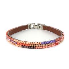 biba ibiza armband smal blauw roze