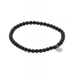 Biba jade armband kleur black antracite kralen 4mm