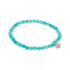 Biba jade armband kleur seablue kralen 4mm