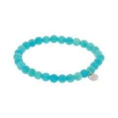 Biba jade armband kleur seablue kralen 6mm