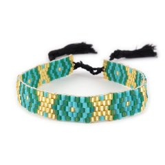 biba armband groen turquoise smal