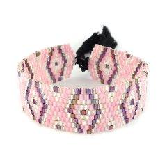 biba kralenarband roze paars