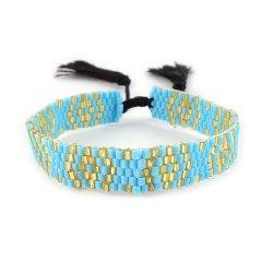 biba kralenarmband smal blauw