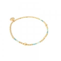 Biba miyu armband kleuren mint goud kralen 2mm