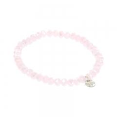 Biba facet armband kleur sweety pink kralen 6mm
