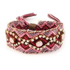 boho armband paars roze