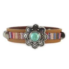 Gypsy style armband flower