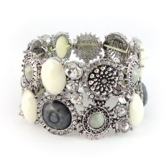 bohemian armband zilver black