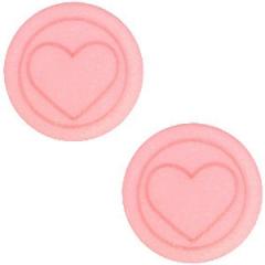 Slider zilverkleurig met hartvorm kleur coral pink smalle armband