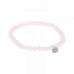 Biba facet armband kleur candy pink 6mm
