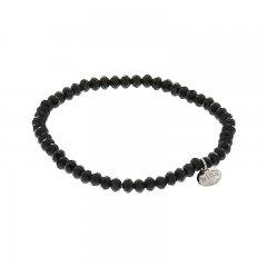 Facet armband kleur shiny black 4mm
