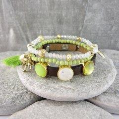 Armband combinatie Green White