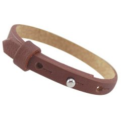 cuoio armband dark copper brown kids