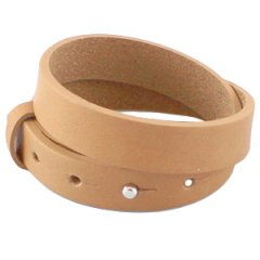 Cuoio armband raw sienna brown