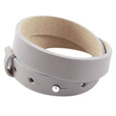 Cuoio armband velvet taupe dubbel