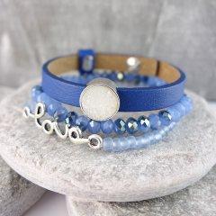 Armband combinatie Blue Love
