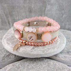 Armband combinatie Country Pink