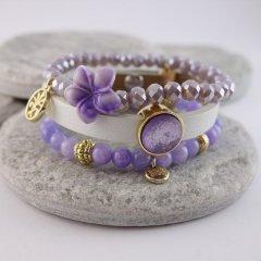 Armband combinatie Purple Flower
