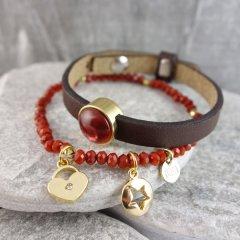 Armband combinatie Warm Red