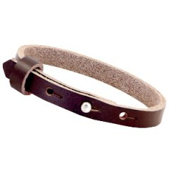 Smalle armband double brown