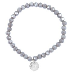Facet armband grey shade topaz