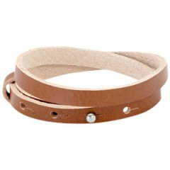 Smalle armband hazel brown dubbel