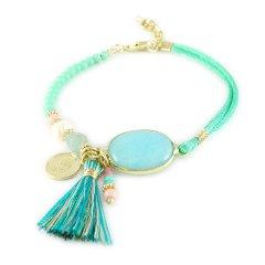 Ibiza armband turquoise ovaal