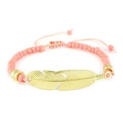 Ibiza armband feather pink