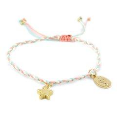 ibiza armband fijn roze blauw