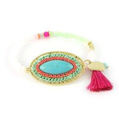 ibiza armbandje ovaal turquoise