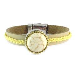 Boho style armband geeltinten